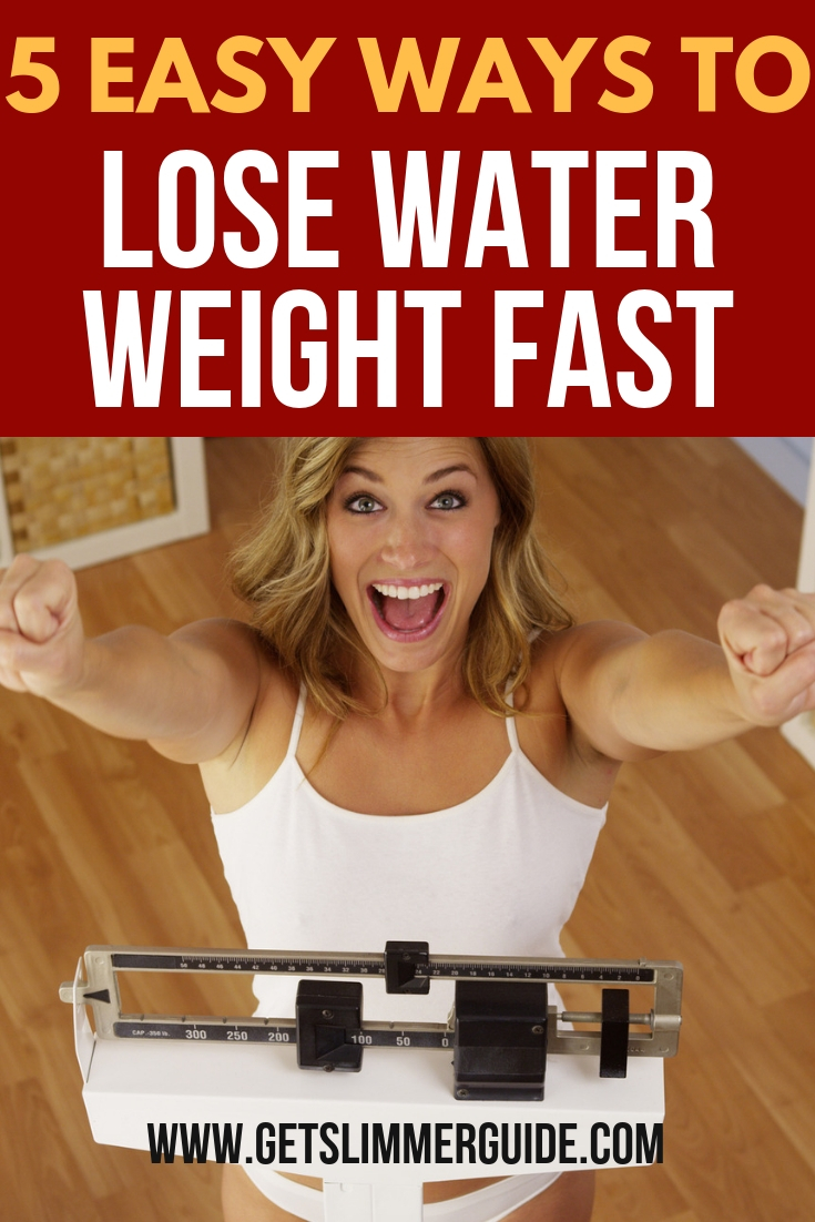 How to get rid of water weight quickly