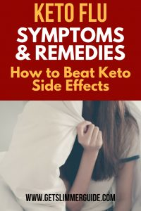 Keto flu symptoms treatment and remedies to help you beat keto diet side effects! #ketoflu #ketofluremedies #ketoflusymptoms #ketodiet #ketodietsideeffects #keto