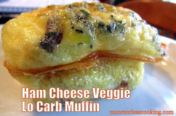 ham cheese veggie keto breakfast muffins