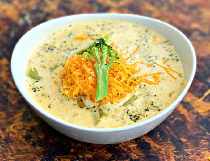 Instant Pot Panera keto broccoli cheddar soup